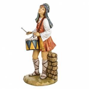 Berger avec  tambour crèche Fontanini 65 cm résine s2