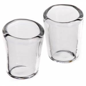 Accessori presepe per casa: Bicchiere vetro presepe 1,3x1 cm set 2 pz