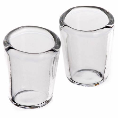 Bicchiere vetro presepe 1,3x1 cm set 2 pz s1