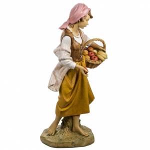 Statue per presepi: Bimba con frutta 125 cm presepe Fontanini