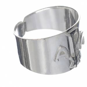 Bishop's items: Bishop Ring in silver 800 -  Chi-Rho, Alpha and Omega