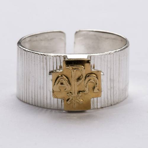 Bishop's Ring, Cross with Alpha and Omega and Chi-Rho s3