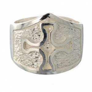Bishop's ring in 800 silver with silver cross s1
