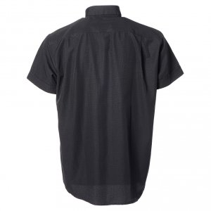 Black short sleeves clergy shirt, cotton and polyester s2