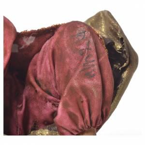 Angela Tripi Nativity scene: Black Wise Man in terracotta, 13cm by Angela Tripi