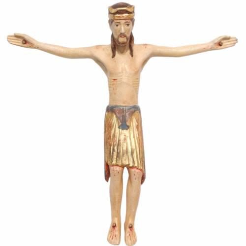 Body of Christ in Valgardena wood, antique gold, Altenstadt s1