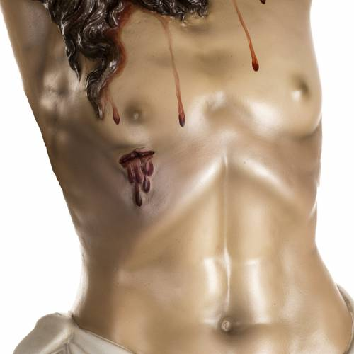 Body of Christ in wood paste, antique decorations s3