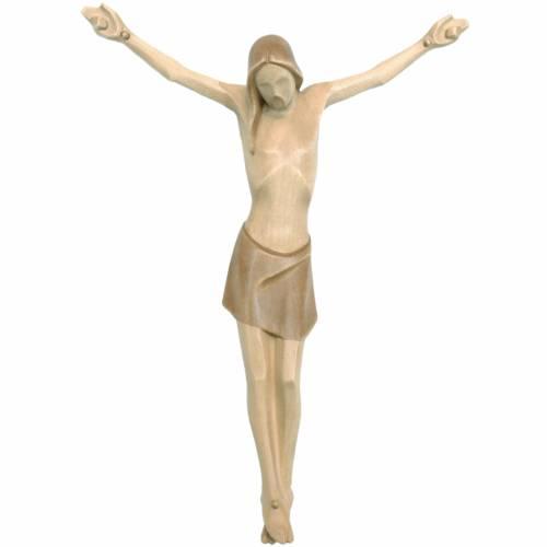 Body of Christ, stylised in Valgardena wood, multiple patinas s1