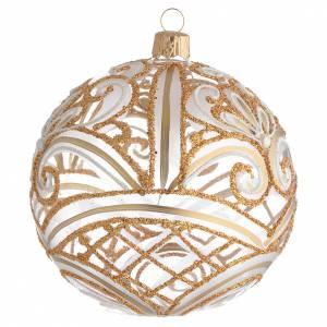 Bola de Navidad transparente oro 100 mm s2