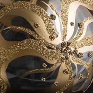 Bola de Navidad vidrio con decoraciones en flores de 15 cm s4