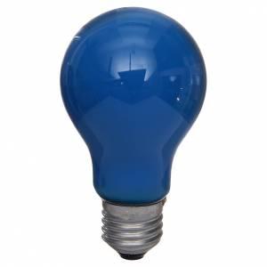 Bombilla 40W azul E27 para belén s1