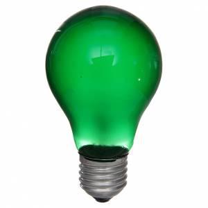 Bombilla 40W verde E27 para belén s1