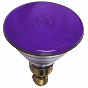Bombilla coloreada 80W E27 morada para belén s1