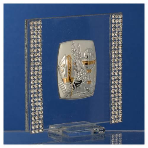 Bomboniera Argento e strass 7x7 cm s3
