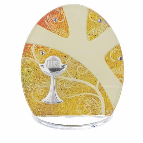 Bomboniera Prima Comunione Calice Arg. 8,5 cm s1