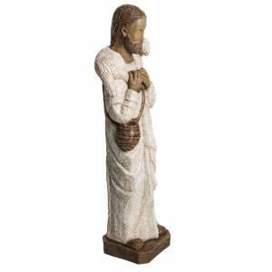 Bon Berger 56 cm pierre peinte Bethléem s2