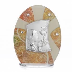 Bonbonnière Communion Garçon argent h 10,5 cm s1