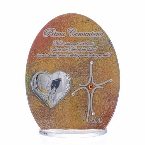 Bonbonnière Communion Pape François 10,5 cm s1