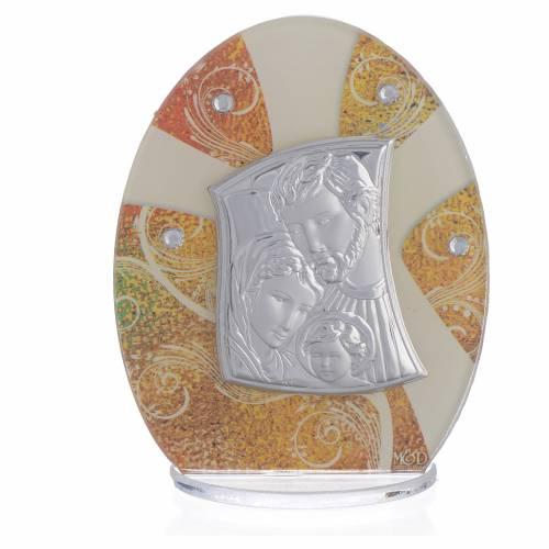 Bonbonnière Mariage Sainte Famille argent 10,5 cm s1