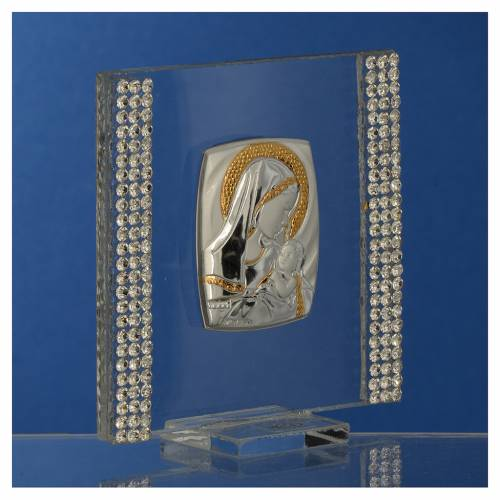 Bonbonnière Naissance Argent et strass 7x7 cm s3