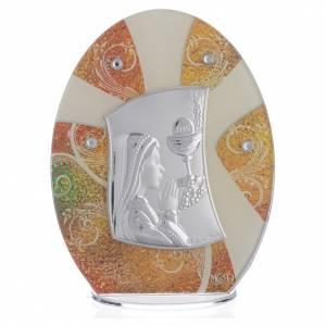 Bonbonnières: Bonbonnière Première Communion Fille argent 16,5 cm