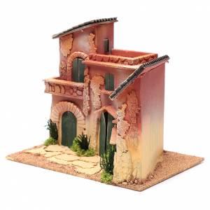 Ambientazioni, botteghe, case, pozzi: Borgo case 25x30x20 cm per presepe