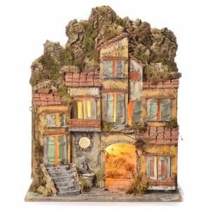 Borgo del presepe con fontana 55X45X35 per cm 8/10 s1