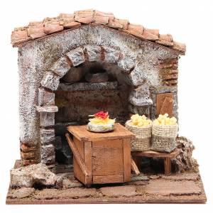 Ambientazioni, botteghe, case, pozzi: Bottega del pastaio per presepe 10 cm