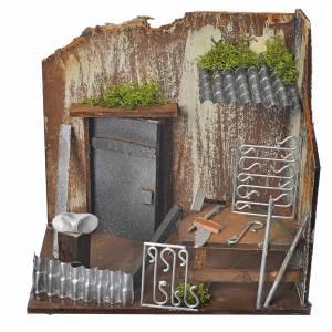 Ambientazioni, botteghe, case, pozzi: Bottega fabbro 20x14x20 cm