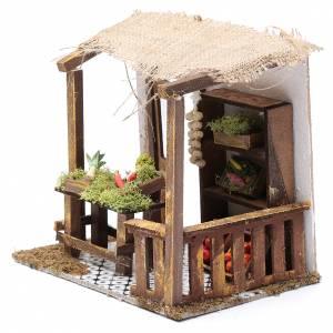 Ambientazioni, botteghe, case, pozzi: Bottega ortaggi 15x20x15 cm per presepe