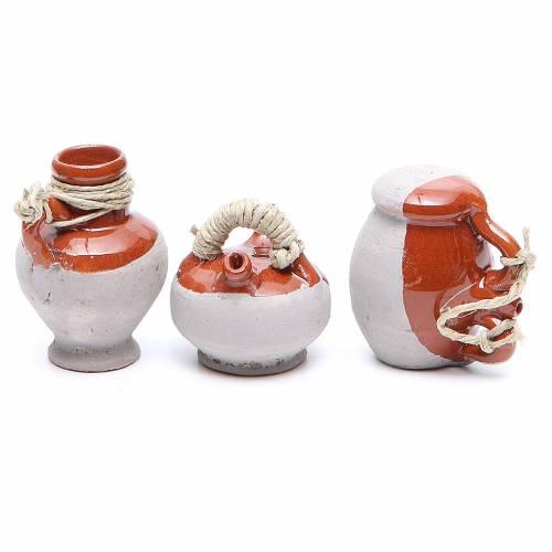Bottiglia terracotta 5 cm assortiti 6 pezzi s2