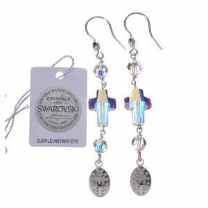 Boucles d'oreilles argent 800 Swarovski Miraculeuse blanc s2