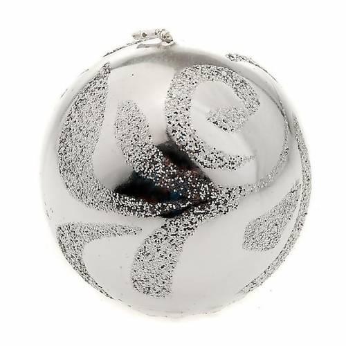 Bougie de Noël sphère argentée s1