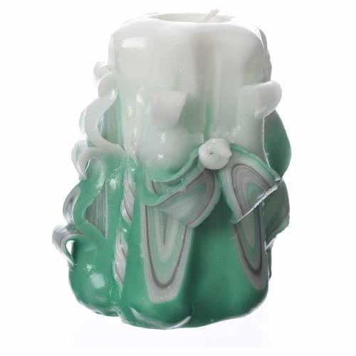 Bougie Medjugorje vert 11x7 cm s2