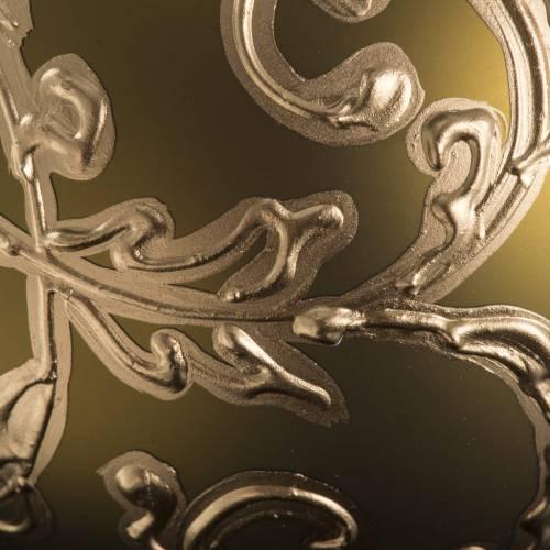 Boule de Noel dorée et décors 10 cm s3