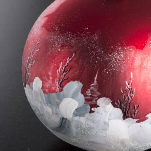 Boule de Noel paysage hivernal 15 cm s5