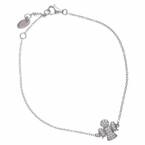 Bracciale argento 925 AMEN angioletto zirconato s1