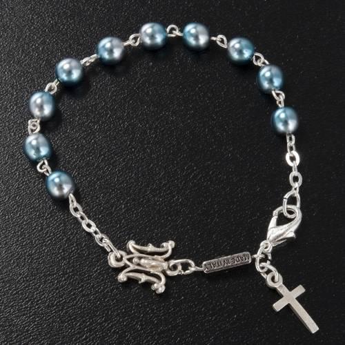 Bracciale decina Ghirelli vetro Boemia azzurro mariano s2