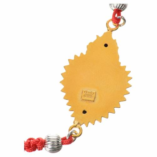 Bracciale ex voto dorato arg. 800 corda rossa s3