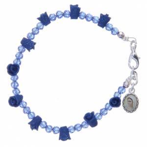 Bracciale rosario Medjugorje cristalli blu s1