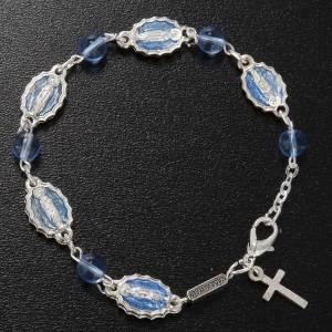Braccialetto decina Ghirelli Guadalupe vetro azzurro s2