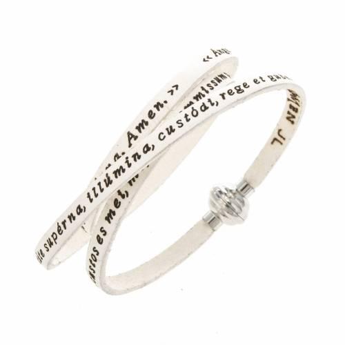 Bracelet Amen Ange de Dieu blanc LAT s1