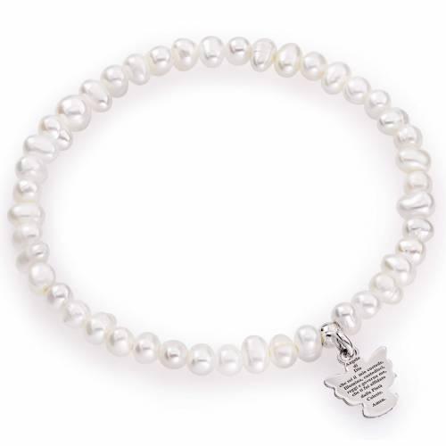 Bracelet Amen perles rondes 4/5mm et argent 925 s1