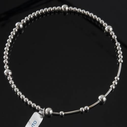 Bracelet chapelet argent 800 grains glissants s2