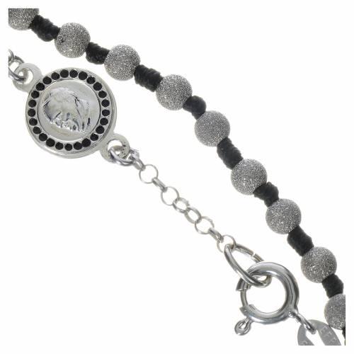Bracelet chapelet Pape François argent 800 grains diamantés s3