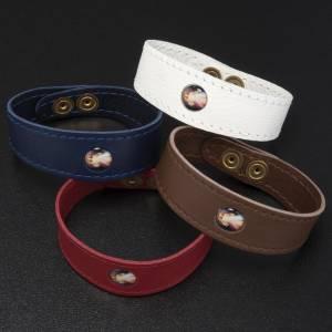 Bracelets divers: Bracelet cuir Divine Miséricorde