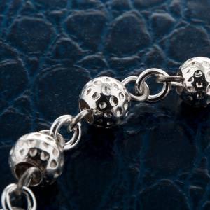 Bracelets en argent: Bracelet dix grains, argent grains martelés
