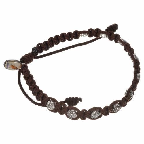 Bracelet dizainier sur corde et petites roses s3