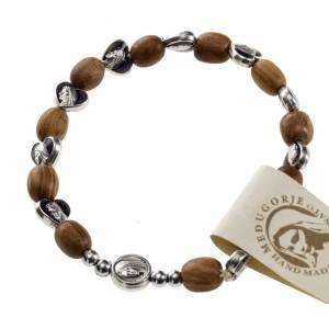 Bracelet élastique bois d'olivier Medjugorje s1