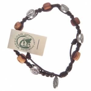 Bracelets, dizainiers: Bracelet en olivier avec médaille miraculeuse
